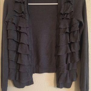 Ann taylor sweater gray cardigan